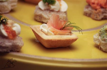 Barquette de salmão e dill