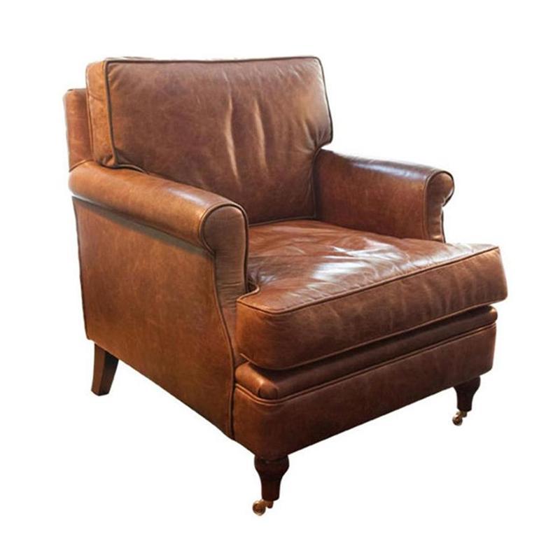Poltrona Club Chair Couro Envelhecido