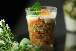 Verrine de salada de quinoa - 3,50 cada - mínimo 15 un.