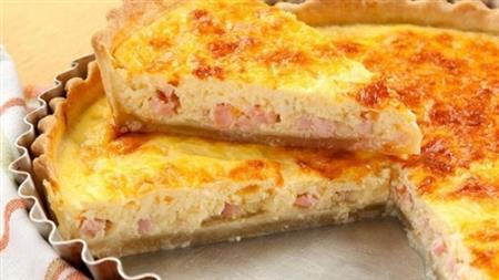 Quiche de presunto e queijo - 80,00 (27cm - 1,2kg)