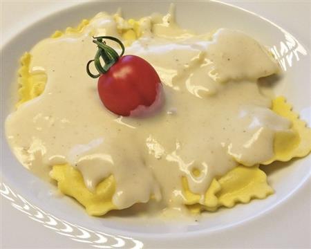 Raviolli de 4 queijos ao molho béchamel (400g)
