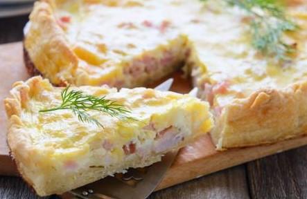 Quiche de presunto e queijo M - 45,00 (500g)