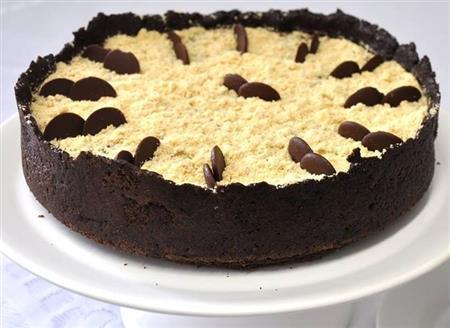Torta mousse de chocolate com farofa crocante - 120,00 (1,2kg)