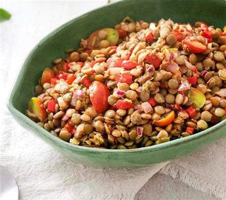 Salada de lentilhas e ervilhas secas - 10,00 (100g) - mínimo 500g
