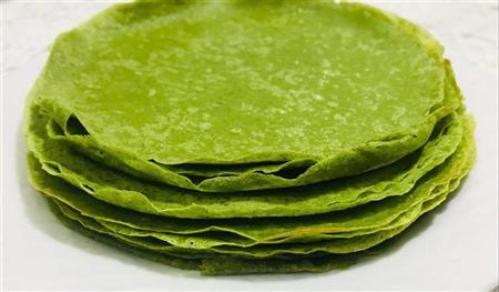 Massa verde para crêpes - 21,00 (06 unidades)