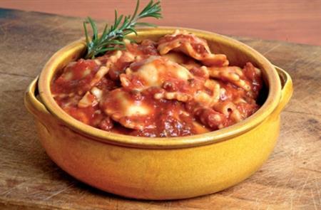 Raviolli de carne ao molho bolognesa (1kg)