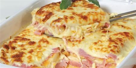 Lasagna de presunto e queijo ao molho béchamel (1kg)